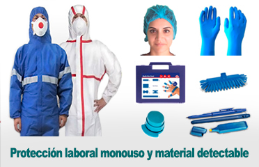 Ropa desechable y material detectable